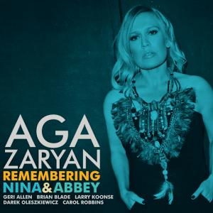 CD cover art for Aga Zaryan Remembering Nina and Abbey featuring Carol Robbins on harp