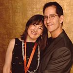 Carol Robbins with husband Buddy Halligan at the 2006 Grammy Nomination Party